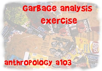 Garbage exercise banner; background artwork from Augart Gallery
